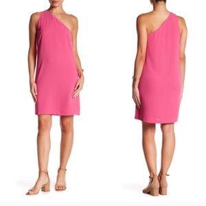 New! Pink One Shoulder Dress!